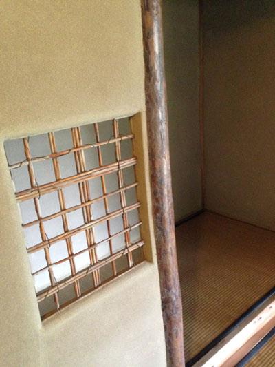 茶室の床柱